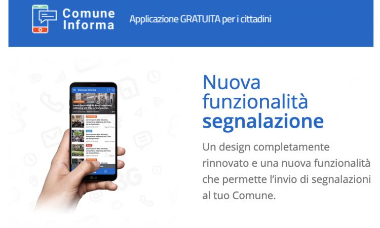 Comune Informa - Nuova funzionalità segnalazione