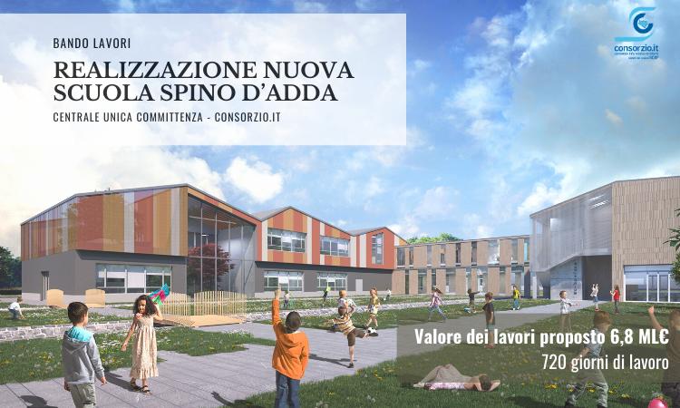 Bando lavori - Realizzazione nuova scuola Spino d'Adda