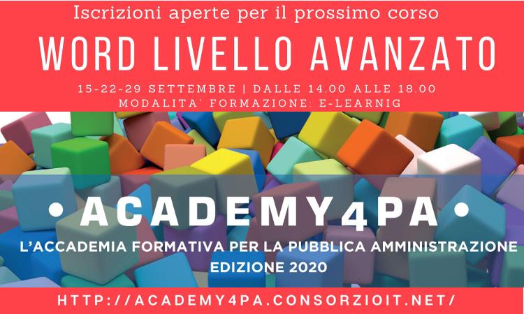 Academy4PA - corso word livello avanzato